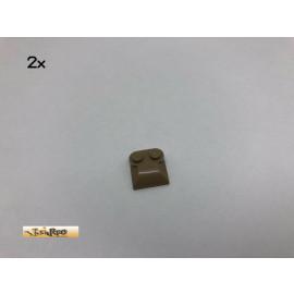 LEGO® 2Stk 2x2 Schrägstein Brick Dunkelbeige, Dark Tan 47457 49