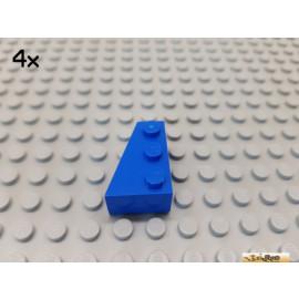 LEGO® 4Stk Keil / Flügelstein 3x2 links blau 6565