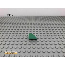 LEGO® 20Stk 1x2 45° Dachsteine Schrägstein Grün, Green 3040 47