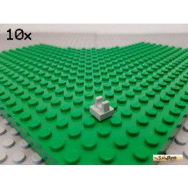 LEGO® 10Stk Platte 1x1 modifiziert mit Clip oben alt-hellgrau 2555