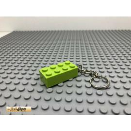 IRIPRO Schlüsselanhänger Hellgrün 2x4 3001 LEGO® Baustein