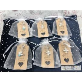 Engel Schlüsselanhänger Schutzengel Engelchen Perlenschutzengel 6er Set