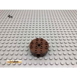 LEGO® 4Stk Technic 4x4 Rundstein Wagenrad Brick Braun, Brown 6222 53
