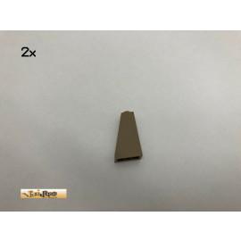 LEGO® 2Stk 1x2x3 75° Schrägstein Dachsteine Brick Dunkelbeige, Dark Tan 4460 12