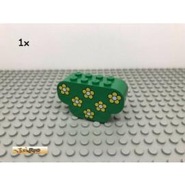 LEGO® 1Stk 2x6x3 Blume bedruckt Grün, Green 30075 215