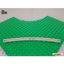 LEGO® 8Stk Schiene gebogen gezahnt alt-hellgrau