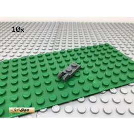 LEGO® 10Stk 1x2 Platte Raster Scharnier Gelenk Dunkel Grau, Dark Gray 44302