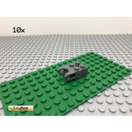 LEGO® Technic 10Stk 2x2 Kugelaufnahme Verbinder Dunkel Grau, Dark Gray 92013