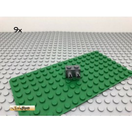 LEGO® Technic 9Stk 1x2 mit 2 Pins Dunkel Grau, Dark Gray 30526