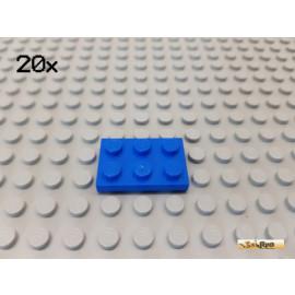 LEGO® 20Stk Platte Basic 2x3 blau 3021
