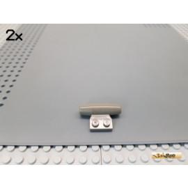 LEGO® 2Stk 1x2 Platte modifiziert Turbine / Düse / Antrieb alt-dunkelgrau 3475