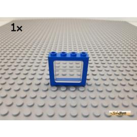 LEGO® 1Stk Eisenbahn / Fenster blau mit Glas 1x4x3 4033