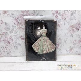 Blechschild Nostalgisch Kleiderständer Kleid Garderobenständer Vintage