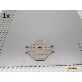 LEGO® 1Stk Bootsmast Platte / Plattform 6x6 mit Clips alt-dunkelgrau 2539
