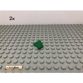 LEGO® 2Stk 1x2 45° Dachsteine Grün, Green 3048 101