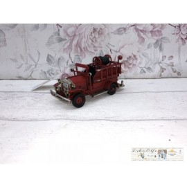 Clayre & Eef Deko Feuerwehrauto Auto Metall Vintage
