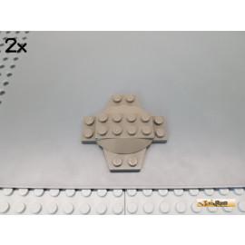 LEGO® 2Stk Kreuzplatte / Sonderplatte 6x6 alt-dunkelgrau 30303