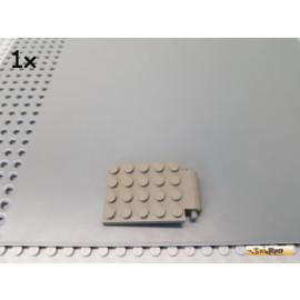 LEGO® 1Stk Platte 4x6 mit Pins / Falltüre alt-dunkelgrau 30042