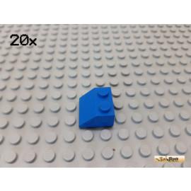 LEGO® 20Stk Dachstein / Schrägstein 2x2 45° blau 3039
