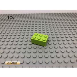 LEGO® 10Stk 2x3 Basic Stein Limette, Lime 3002 25