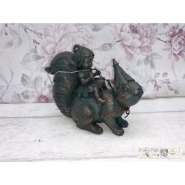 Eichhörnchen Fee Elfe Figur Dekoration Vintage Landhaus Gartenelfe