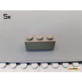 LEGO® 5Stk Stein Basic 1x3 alt-dunkelgrau 3622