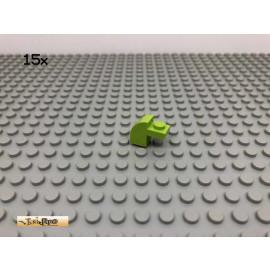LEGO® 15Stk 1x2 Abschlussstein Bogenstein Limette, Lime 6091 14