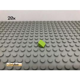 LEGO® 20Stk 1x1 Platte Plate Fliese schräg Limette, Lime 54200 50