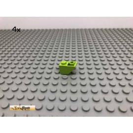 LEGO®  4Stk 1x2 45° Dachstein negativ Limette, Lime 3665 51