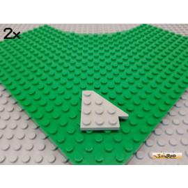 LEGO® 2Stk Keil / Flügelplatte 4x4 alt-hellgrau 3935