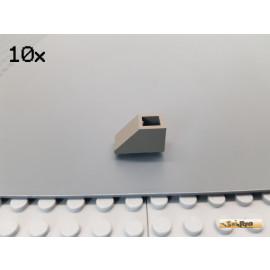 LEGO® 10Stk Dachstein / Schrägstein 1x2 negativ alt-dunkelgrau 3665