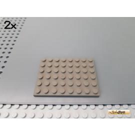 LEGO® 2Stk Platte Basic 6x8 alt-dunkelgrau 3036