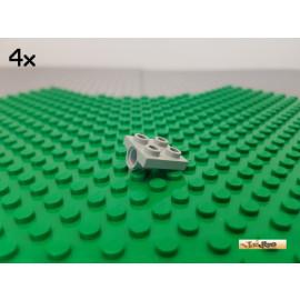 LEGO® 4Stk Platte 2x2 modifiziert mit Achsloch alt-hellgrau 2444