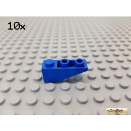 LEGO® 10Stk Dachstein / Schrägstein 1x3 negativ blau 4287