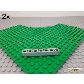 LEGO® 2Stk Technic Liftarm 1x7 alt-hellgrau 32524