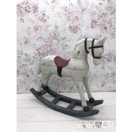 Gilde Schaukelpferd Pferd Deko Shabby Vintage Weiß