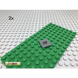LEGO® 2Stk 2x2 Straßenschild mit clip Dunkel Grau, Dark Gray