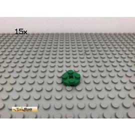LEGO® 15Stk 2x2 Platte rund mit Kreuzloch Grün, Green 4032 38