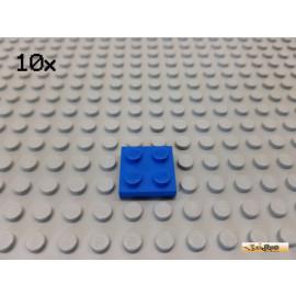LEGO® 10Stk Platte Basic 2x2 blau 3022