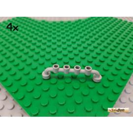 LEGO® 4Stk Zaun / Absperrung 1x6 alt-hellgrau 6140