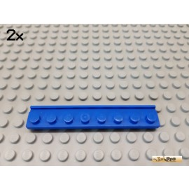 LEGO® 2Stk Platte mit Nut / Führung 1x8 blau 4510