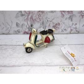 Clayre & Eef Deko Roller Moped Metall Vintage