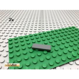 LEGO® 2Stk 1x3  Fliese Platte Plate flach Dunkel Grau,Dark Gray 63864
