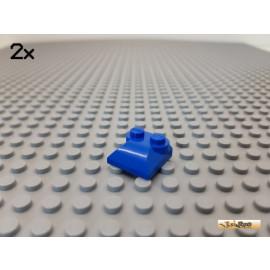 LEGO® 2Stk Platte 2x2 modifiziert / Schrägstein / 2 Noppen blau 47457