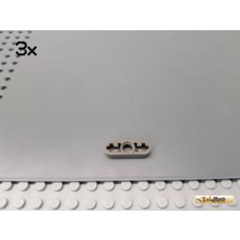 LEGO® 3Stk Technic Liftarm flach 1 Loch 1x3 alt-dunkelgrau 6632