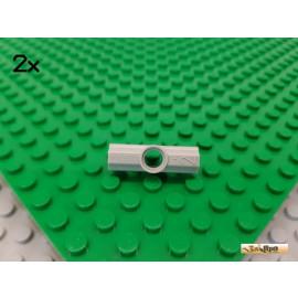 LEGO® 2Stk Technic Verbinder Nr.2 180° alt-hellgrau 32034