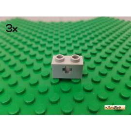 LEGO® 3Stk Stein 1x2 mit Kreuzloch alt-hellgrau 32064