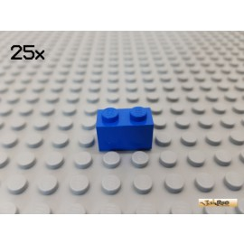 LEGO® 25Stk Stein Basic 1x2 blau 3004