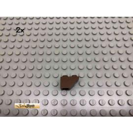 LEGO® 2Stk 1x2 Schrägstein Dachstein negativ Brick Braun, Brown 3665 83