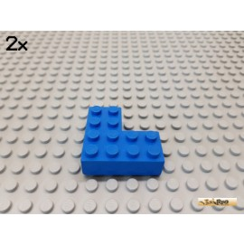 LEGO® 2Stk Stein / Ecke 4x4 blau 702